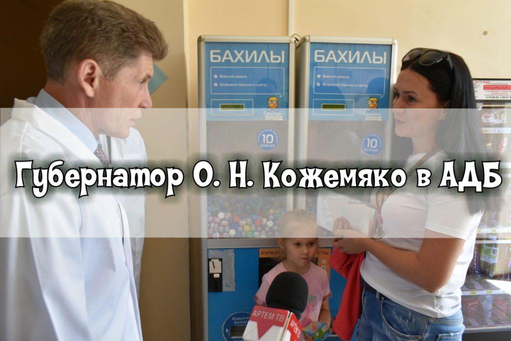 Губернатор с рабочим визитом посетил Артемовскую детскую больницу.